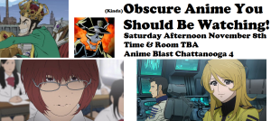 obscure anime panel flyer